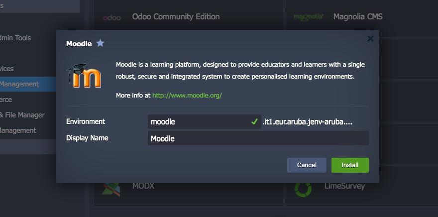 Configure your Moodle instance