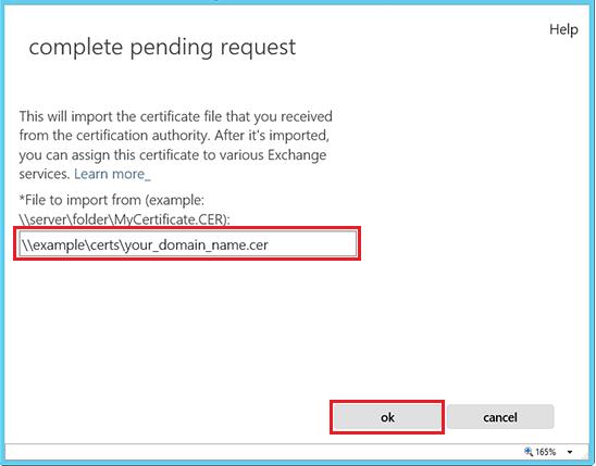 ssl-for-exchange-server-pending-request